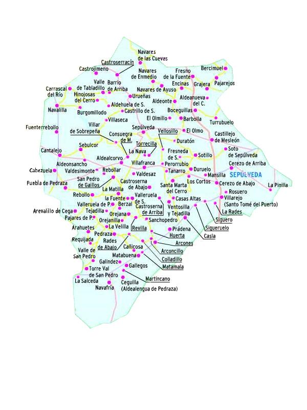 Pueblos De Segovia Mapa.Tierras De Sepulveda Pueblos De Segovia El Norte De Castilla